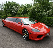 Ferrari Limo in Waterlooville