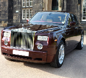 Rolls Royce Phantom - Royal Burgundy Hire in Hadfield