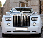 Rolls Royce Phantom - White hire  in Glastonbury